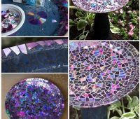 Decorar platos con CDs