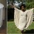 Como hacer un vestido con un mantel de encaje