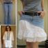 Como hacer faldas de dos texturas recicladas