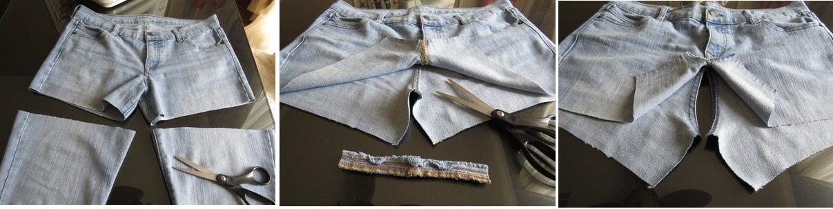 Como hacer faldas de dos texturas recicladas2