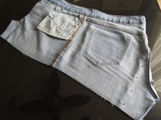 Como hacer faldas de dos texturas recicladas3