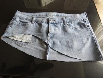 Como hacer faldas de dos texturas recicladas4
