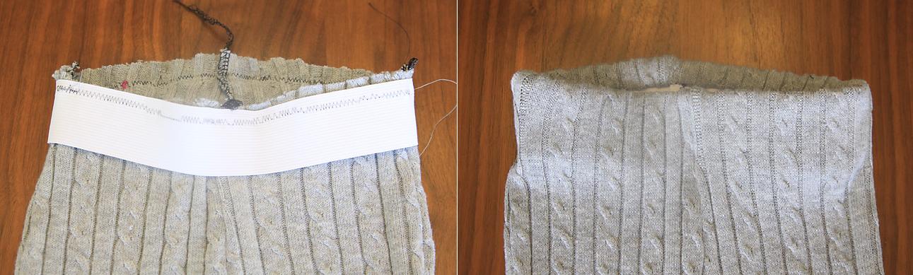 Como hacer leggins para niñas con viejos sueters5
