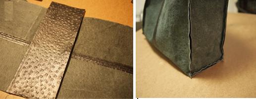 Como hacer un bolso de cuero fácilmente con moldes5