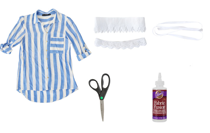 Como hacer un top sin costuras con una camisa 2