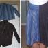 Como hacer una falda con mangas de camisas