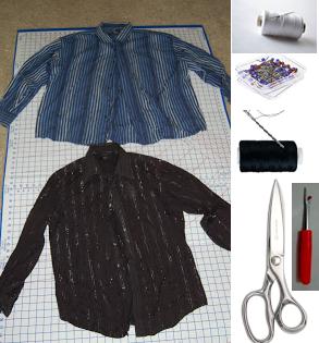 Como hacer una falda con mangas de camisas2