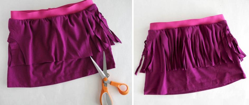 como-hacer-una-falda-de-flecos-con-una-camiseta-6