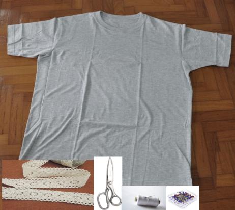 Como renovar camisetas con cuellos de encaje2