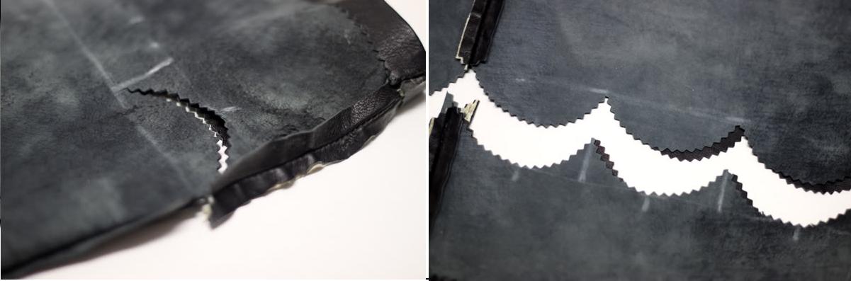 Como renovar ropa de cuero personalizando sus orillos4