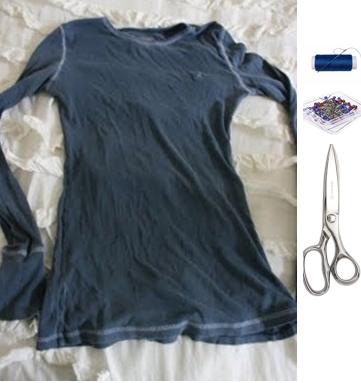 Como transformar camisetas manga larga en sin mangas con volados 2