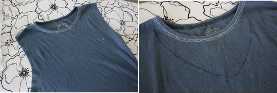 Como transformar camisetas manga larga en sin mangas con volados 3