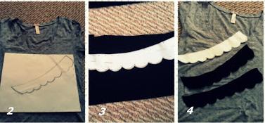 Como hacer un cuello bebé fácil para renovar camisetas4