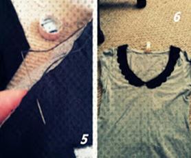 Como hacer un cuello bebé fácil para renovar camisetas5