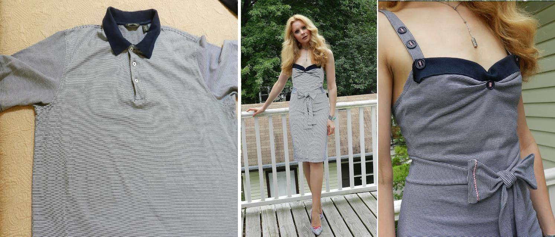Como hacer un vestido con una camiseta de hombre1
