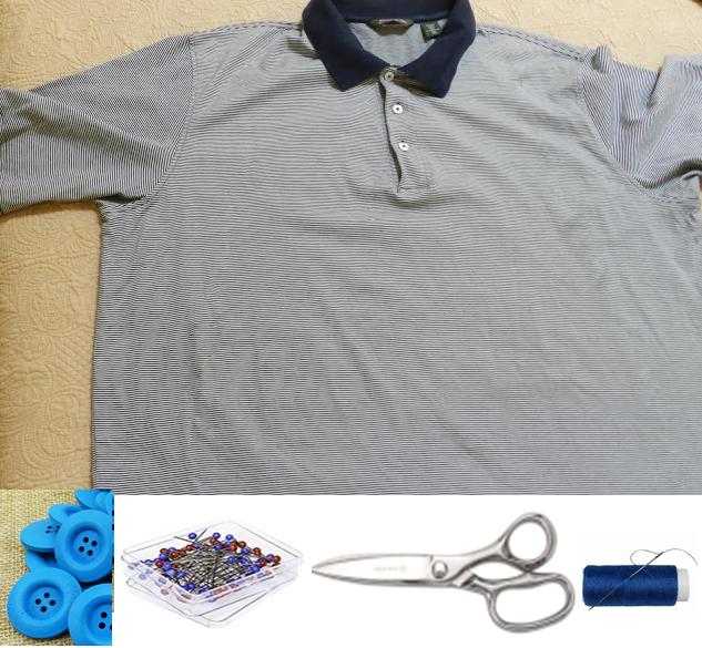 Como hacer un vestido con una camiseta de hombre2