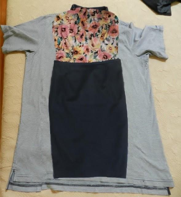 Como hacer un vestido con una camiseta de hombre3