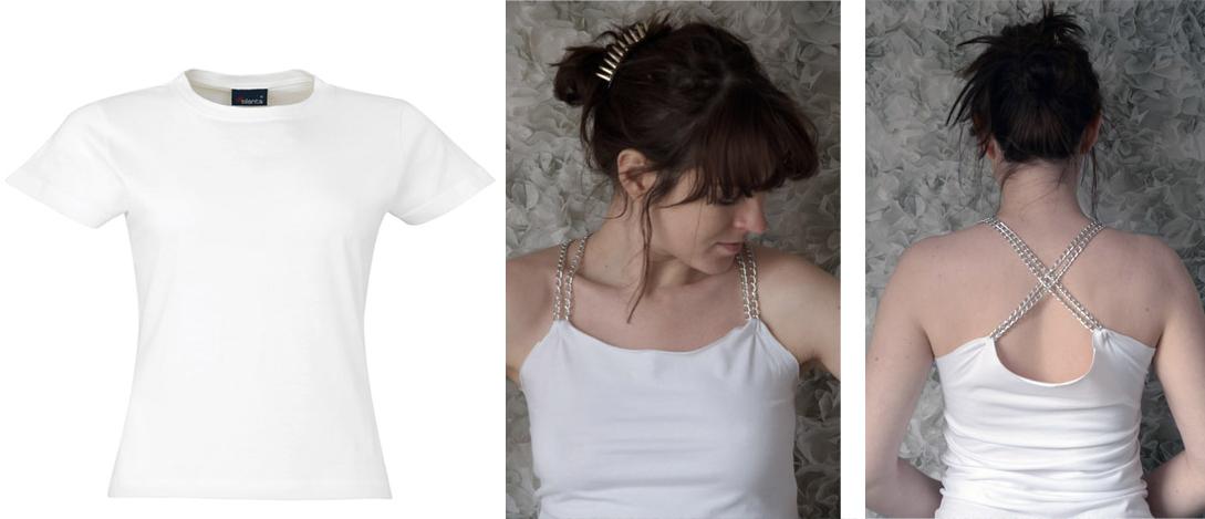 Como transformar camisetas en tops facil y rapido1