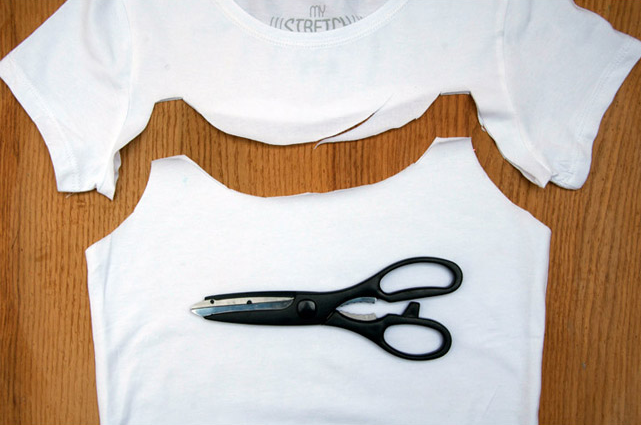 Como transformar camisetas en tops facil y rapido3