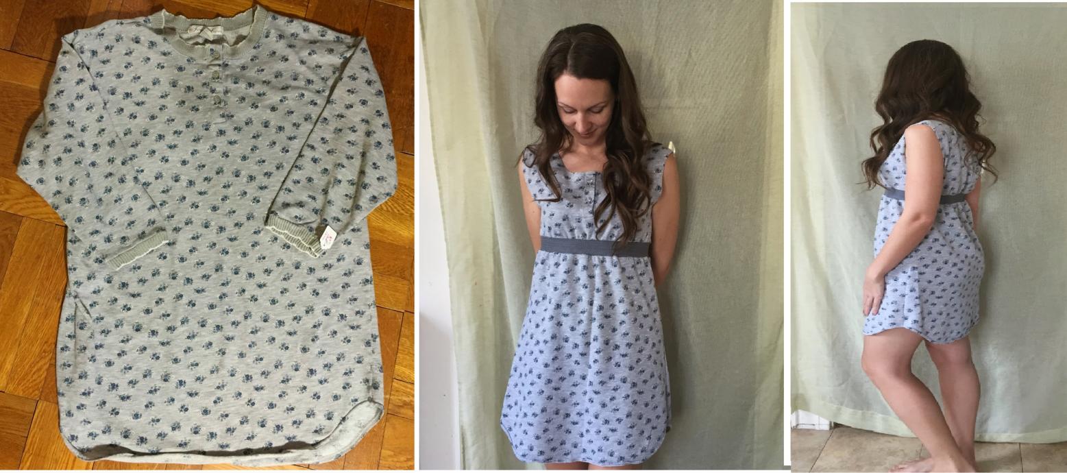 Como transformar una camiseta pijama en un vestido coqueto1