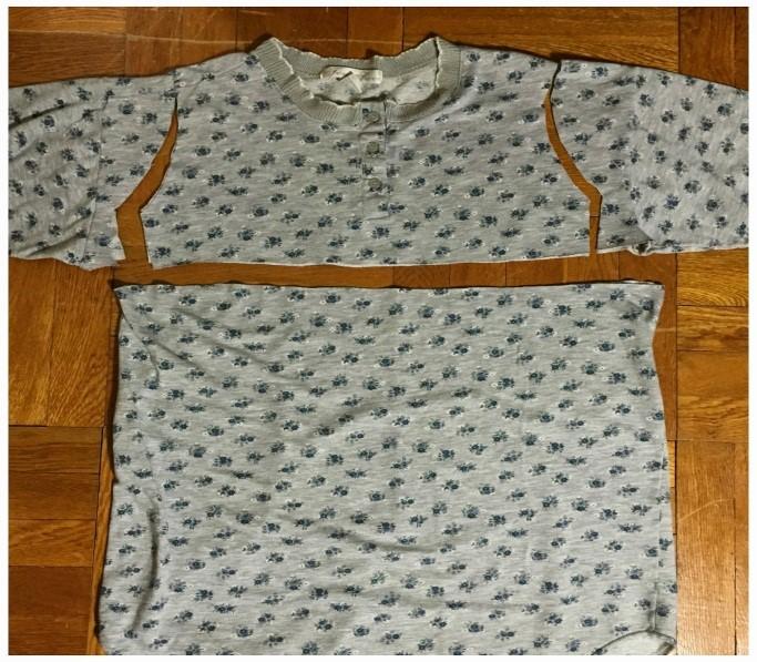 Como transformar una camiseta pijama en un vestido coqueto3