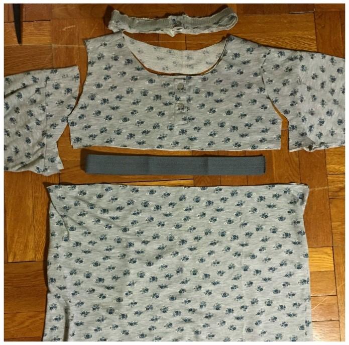 Como transformar una camiseta pijama en un vestido coqueto4