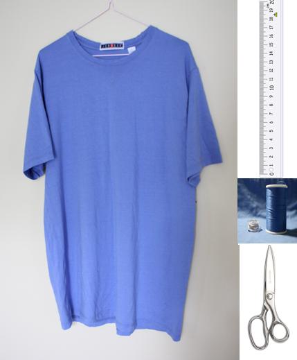 como transformar camisetas grandes en faldas arruchadas en la cintura2