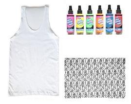Como crear diseños coloridos a camisetas con encaje2