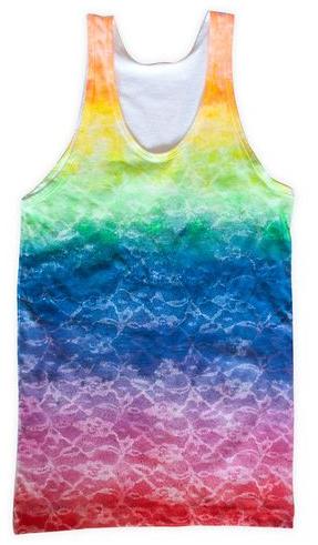Como crear diseños coloridos a camisetas con encaje5