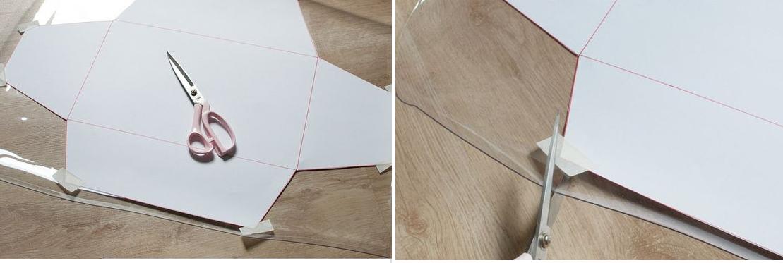 Como hacer un bolso de mano en plastico con moldes ¡Facil, lindo y muy practico! 4