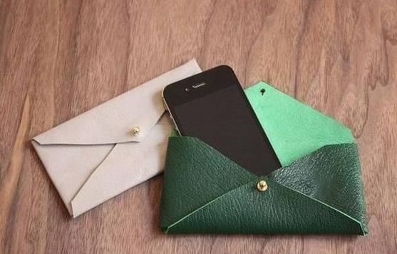Como hacer un estuche para telefonos en cuero facil y lindo ¡Perfecto para usar de monedero!5