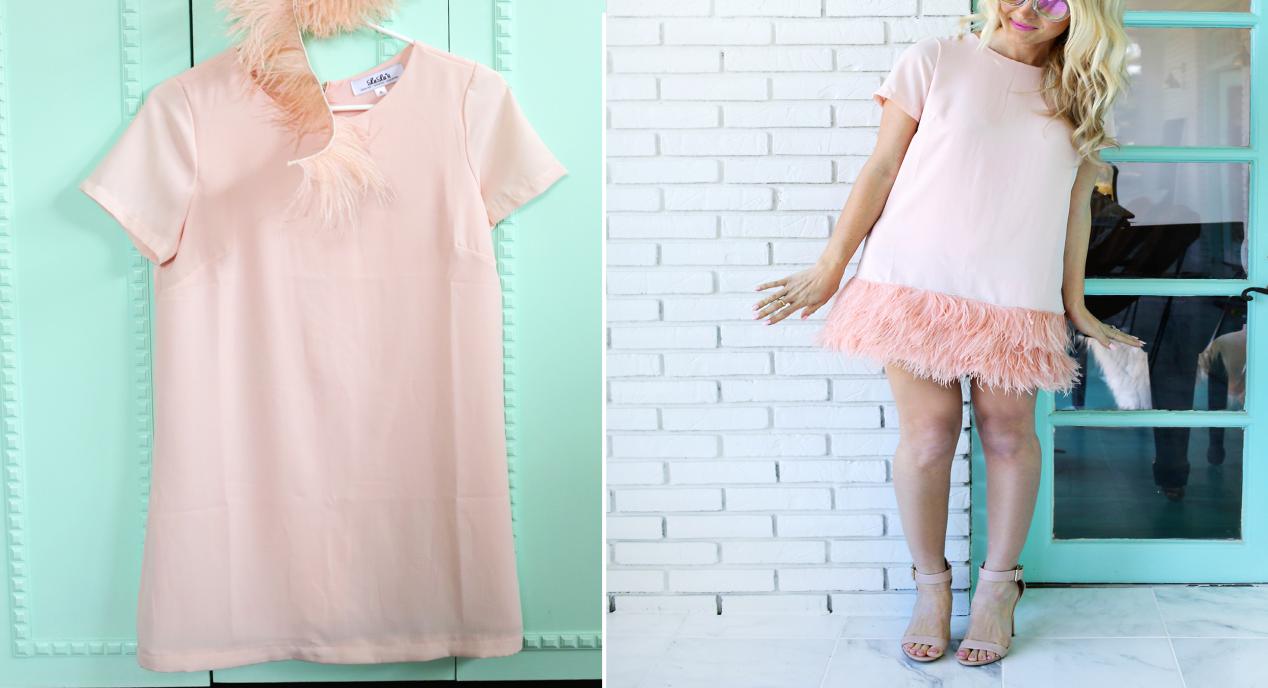 Como hacer vestidos con volados de plumas con una1
