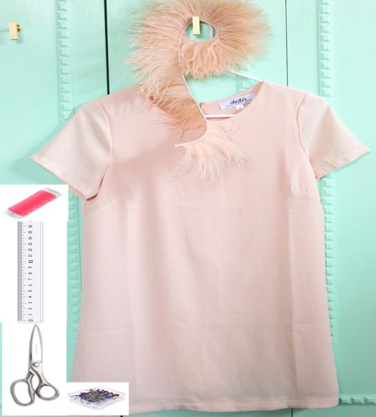 Como hacer vestidos con volados de plumas con una3
