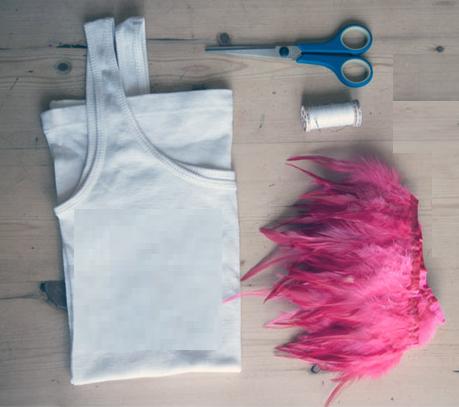 Como renovar camisetas con cinta de plumas2