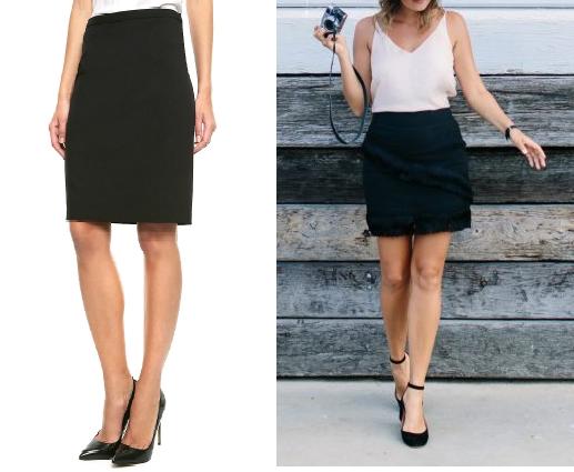 Como renovar faldas lisas con textura asimetrica de flecos1