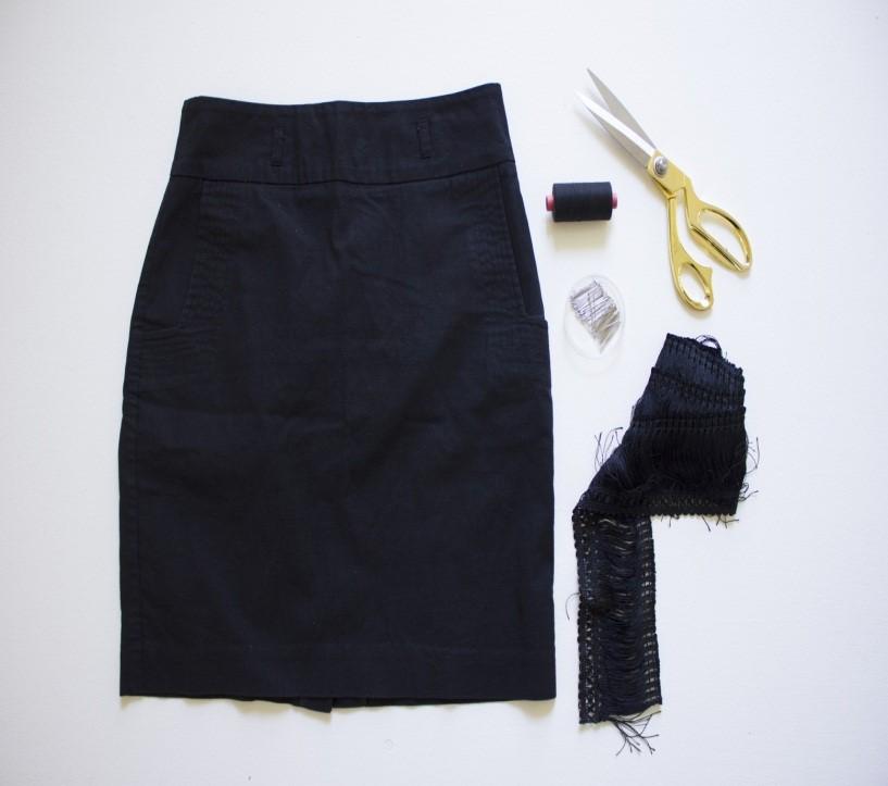 Como renovar faldas lisas con textura asimetrica de flecos3