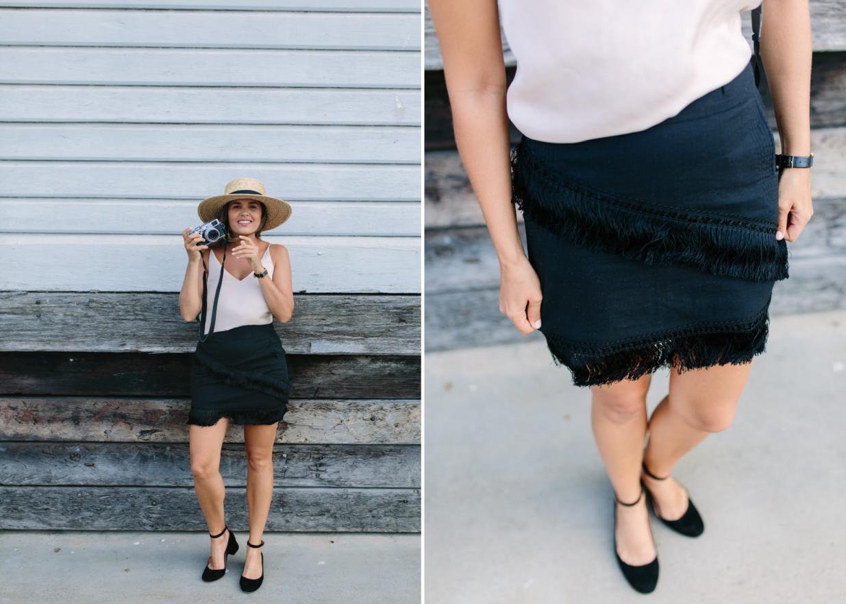 Como renovar faldas lisas con textura asimetrica de flecos8