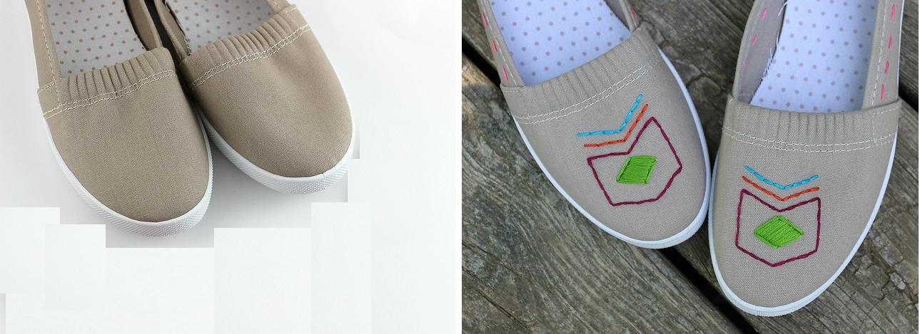 Como renovar zapatillas con bordados sencillos ¡Ideal para principiantes!1