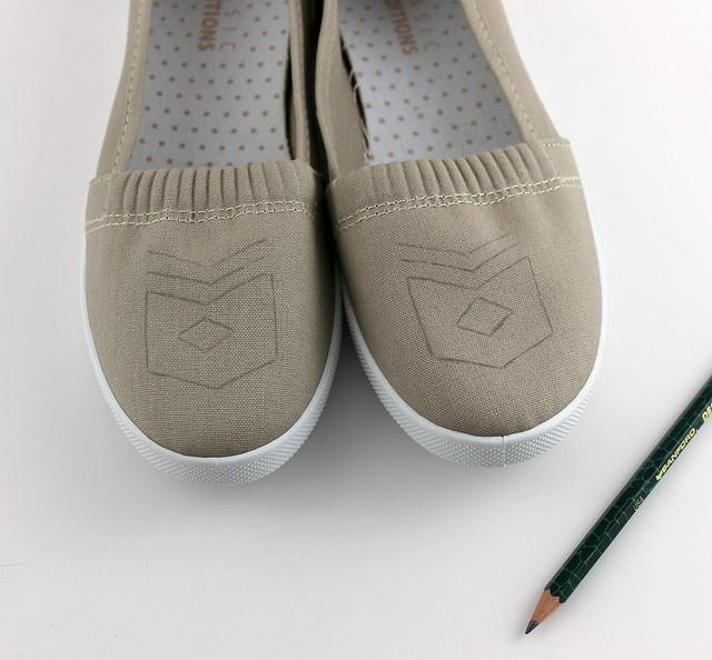 Como renovar zapatillas con bordados sencillos ¡Ideal para principiantes!4