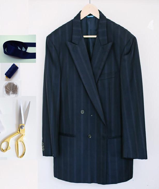 Como transformar un saco de traje en un vestido coqueto exclusivo3