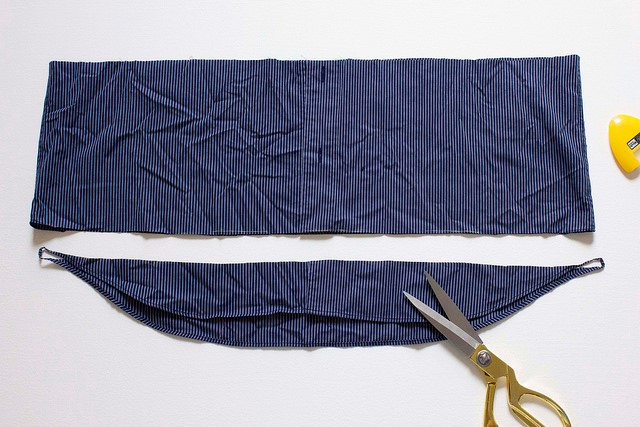 Como transformar una camisa de hombre en una blusa mangas asimétricas11