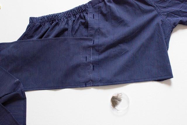 Como transformar una camisa de hombre en una blusa mangas asimétricas12