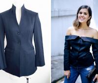 Como transformar una chaqueta en una blusa Off Shoulder
