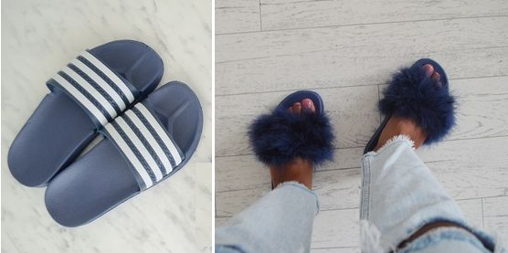 Como personalizar sandalias plásticas para usar en casa1