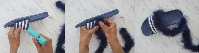 Como personalizar sandalias plásticas para usar en casa3