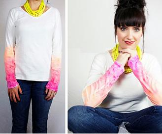 Como renovar mangas a sueters y camisetas 5