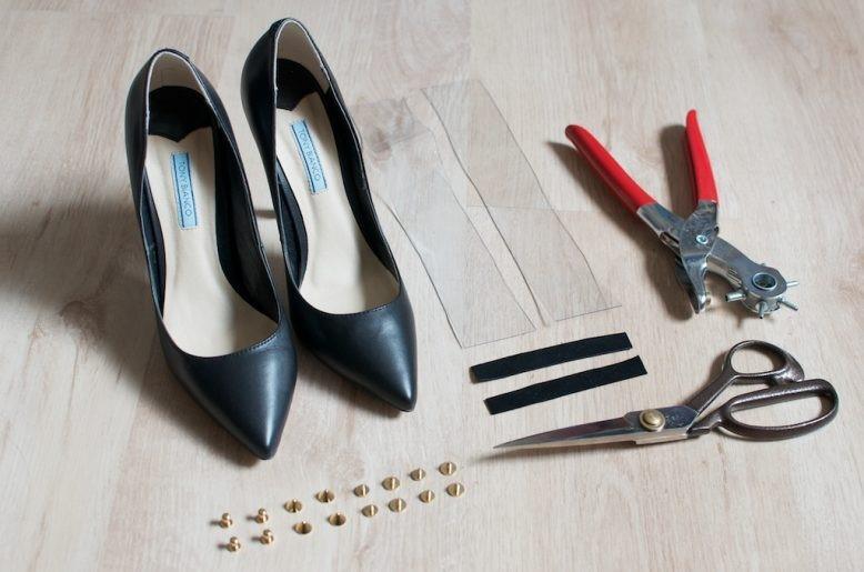 Como renovar tus zapatos con tiras de pvc en solo unos minutos2