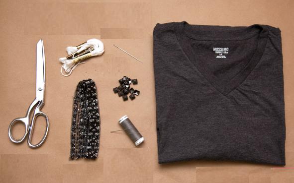 Como transformar camisetas en tops casuales2