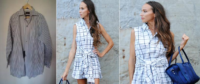 Como transformar una camisa de hombre en un vestido casual en 3 simples pasos1