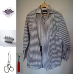 Como transformar una camisa de hombre en un vestido casual en 3 simples pasos2